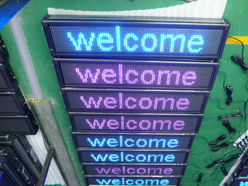 Semi-Outdoor LED Moving Message Sign